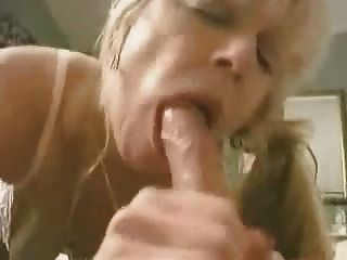 Pigtailed Mature Mom Sucking