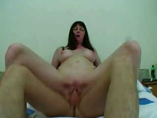 Blue dildo up beths tight pussy 6