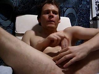 Selfsuck - Autofellatio . German Boy Eats All His Semen !