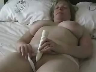 Big Titted Mature Mom Masturbating With A Dildo