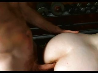 Freckled Red Skyy Gets Hairy Twat And Ass Fucked