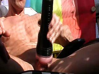 Henndrik Outdoor Fleshlight Handjob Naked Cum