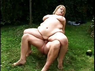Horny Fat Bbw Ex Gf Sucking And Riding Cock Outdoors, P2