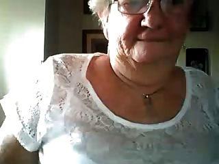 Grandma Showing Big Tits On Webcam