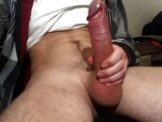 Thick White Cock Jerks Then Squirts