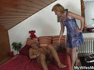 Mother In Law Offering Him Her Snatch