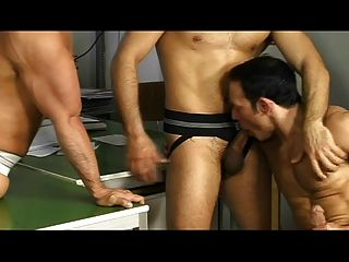 Sexy Athletes Fucking In Anal Foursome
