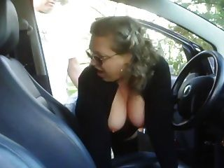 Mature Woman Fucking A Boy In His Car