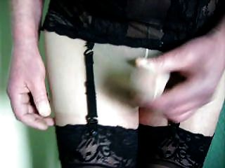 Mature Jenny Wanks Off In Tights And Nylons