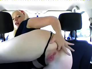Hot Pale Girl Plays With Her Ass