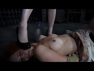 Brunette Mistress Spanks And Humiliates Girls Victim In Lesb