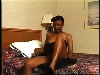 Hairy Mature Black Pussy Being Self Served