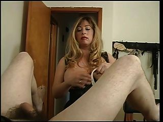 Big Tits Mistress Cristian Fooling Around With Her Slaves Cock