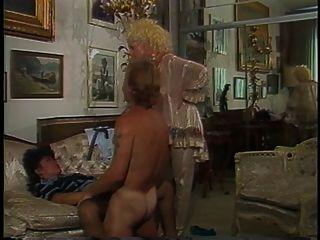 Guy Drills Hot Busty Blonde And Retro Brunette In The House