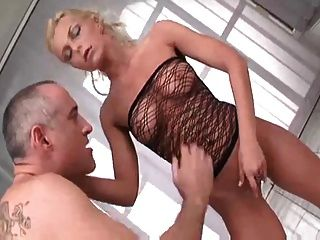 Sexy Blonde From Romania Fucked By Old Man