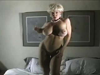 Danni Ashe Walking On Her Bed