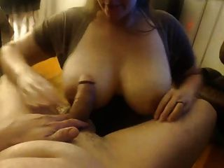 Big Breast Wifey Sucks Off Her Man, Takes Facial