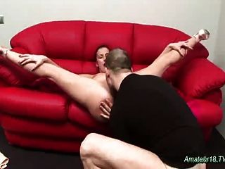 Flexible Gymnast Gets It Deep