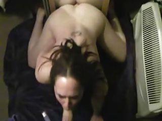 Dildos Herself While Sucking Clip