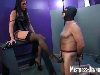 Oral Service Then She Milks Him After Hurting His Cock