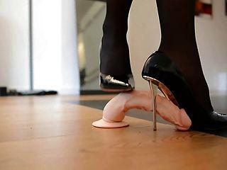 Trampling Shoejob In Designer High Heels & 55cm Corset