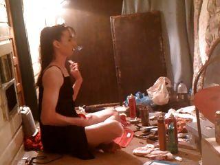Mature Lady Smoking ...and...
