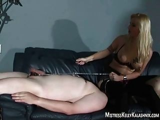 The Blonde Makes You Earn Your Orgasm Slave