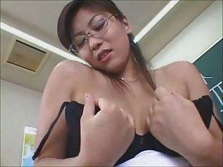 Sexy Japanese Teacher Ends With Pantie Cum Shot