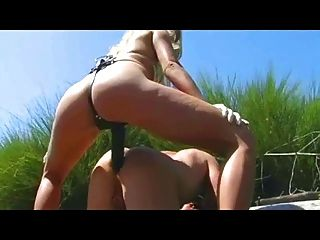 Fucked Outdoor By A Blonde Girl