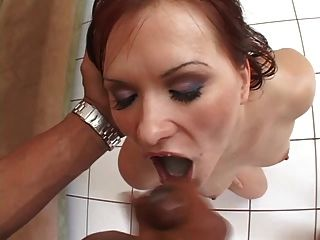 Katja Kassin Swallows 5 Loads Of Spunk