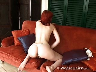 Hairy Leanne Gets Frisky On The Balcony