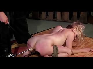 Spanked While Machine Fucked In The Ass