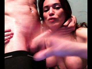 Amateur Tranny Sucks A Dick And Takes Cum In Mouth