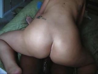 Mature White Wife Riding The Long Black Cock