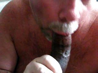Eating Black Cum