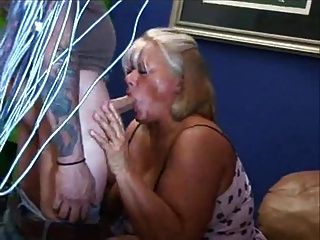 Fat Mature Blonde Masturbes Her Hairy Pussy
