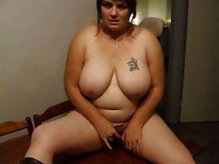 Joanne Masturbating On The Kitchen Table