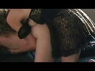 Sexy Black Dress Strapon Fuck