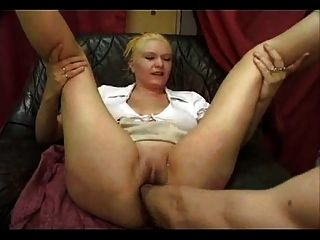 Blond Slut Gets A Hugh Fist In Her Pussy