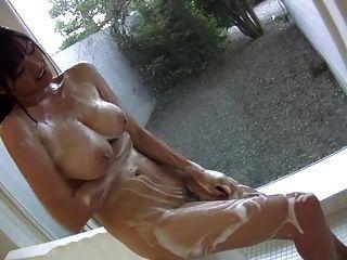Busty Girl In Shower