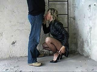 German Fantastci Blow Part 1 Leather Coat Heels