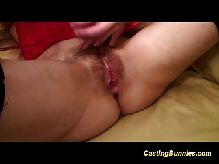 Casting Hairy Bunny Fucking And Taking Extreme Oral