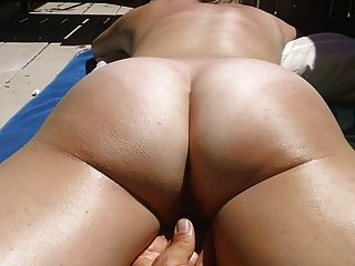 Playing With Lucys Pussy On The Balcony