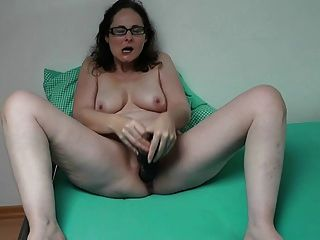 German Milf Playing With Her Huge Dildo
