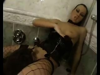 Mistress Humiliates Slave In The Closet.