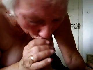Granny Drinking The Milk
