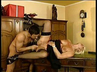 German houswife enjoying 2 hard cocks 3