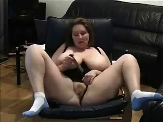 Mature Fingering Watching A Porno. Amateur Older