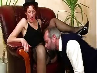 Old Bastard Caught Masturbating By Hot Milf & Finishes It