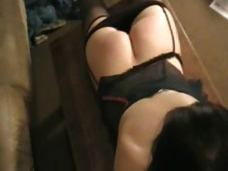 Blow job with spanking